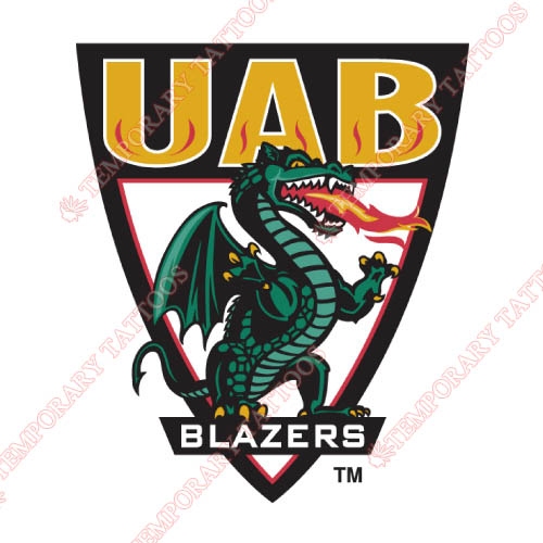 UAB Blazers Customize Temporary Tattoos Stickers NO.6634