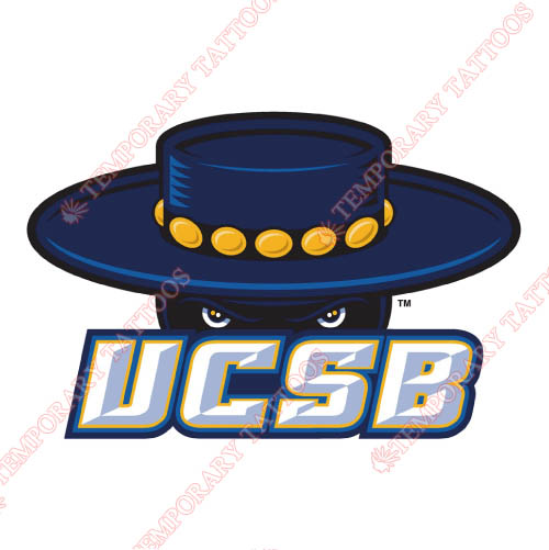 UCSB Gauchos Customize Temporary Tattoos Stickers NO.6673