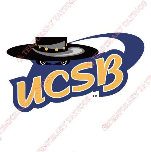 UCSB Gauchos Customize Temporary Tattoos Stickers NO.6677