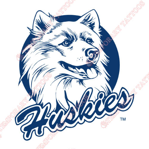 UConn Huskies Customize Temporary Tattoos Stickers NO.6659