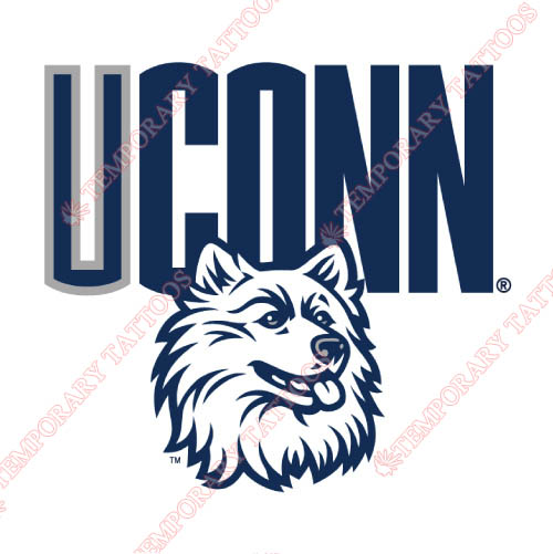 UConn Huskies Customize Temporary Tattoos Stickers NO.6666