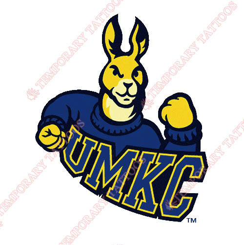 UMKC Kangaroos Customize Temporary Tattoos Stickers NO.6698