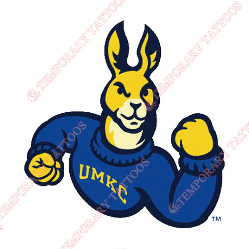 UMKC Kangaroos Customize Temporary Tattoos Stickers NO.6699