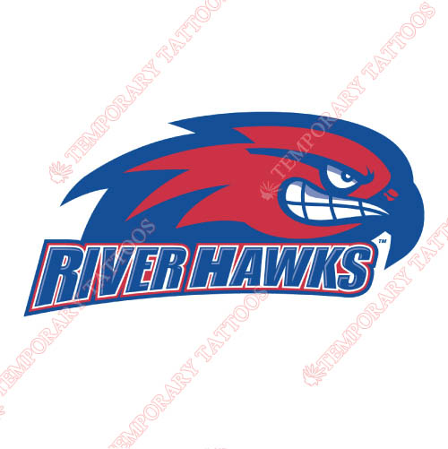 UMass Lowell River Hawks Customize Temporary Tattoos Stickers NO.6679
