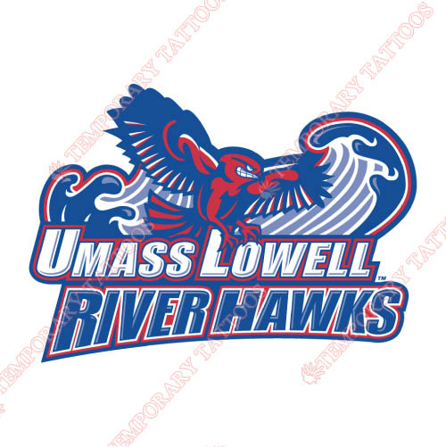 UMass Lowell River Hawks Customize Temporary Tattoos Stickers NO.6680