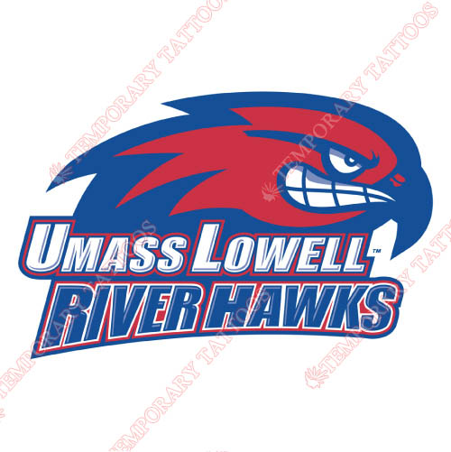 UMass Lowell River Hawks Customize Temporary Tattoos Stickers NO.6683