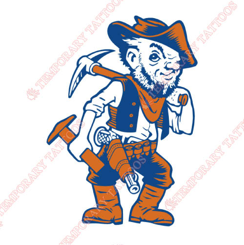 UTEP Miners Customize Temporary Tattoos Stickers NO.6765