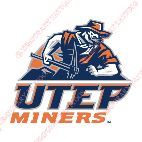 UTEP Miners Customize Temporary Tattoos Stickers NO.6766