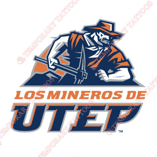 UTEP Miners Customize Temporary Tattoos Stickers NO.6767