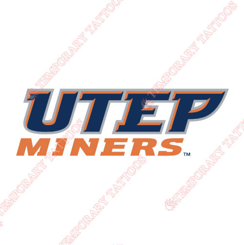 UTEP Miners Customize Temporary Tattoos Stickers NO.6768