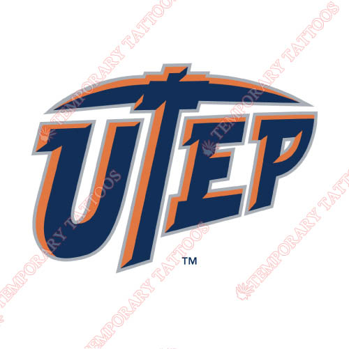 UTEP Miners Customize Temporary Tattoos Stickers NO.6769