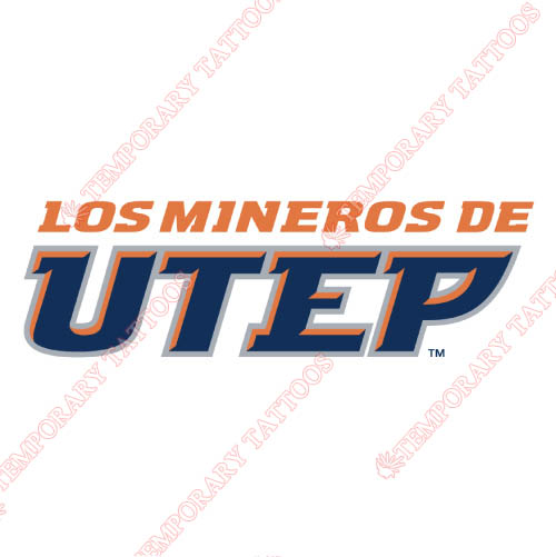 UTEP Miners Customize Temporary Tattoos Stickers NO.6772