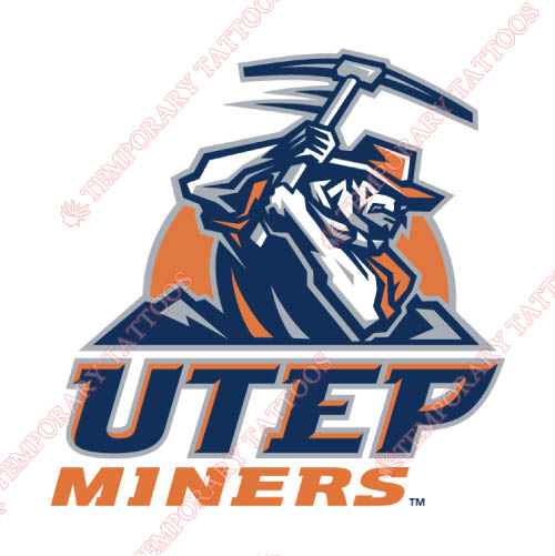 UTEP Miners Customize Temporary Tattoos Stickers NO.6774