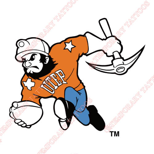 UTEP Miners Customize Temporary Tattoos Stickers NO.6775