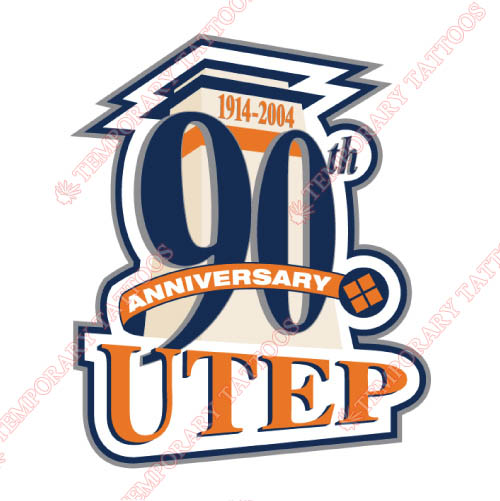 UTEP Miners Customize Temporary Tattoos Stickers NO.6777