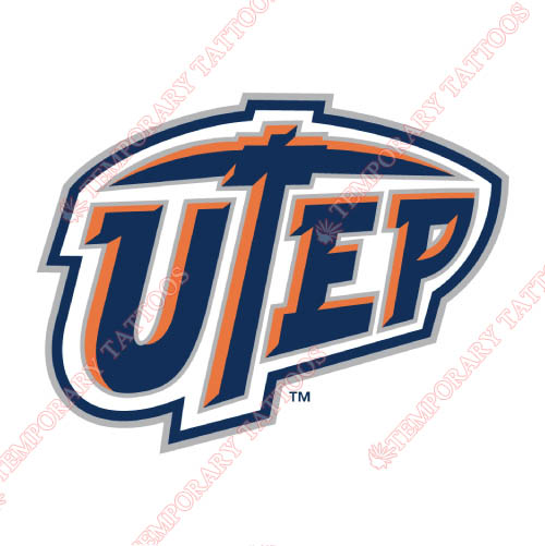 UTEP Miners Customize Temporary Tattoos Stickers NO.6779