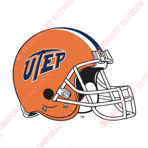 UTEP Miners Customize Temporary Tattoos Stickers NO.6780