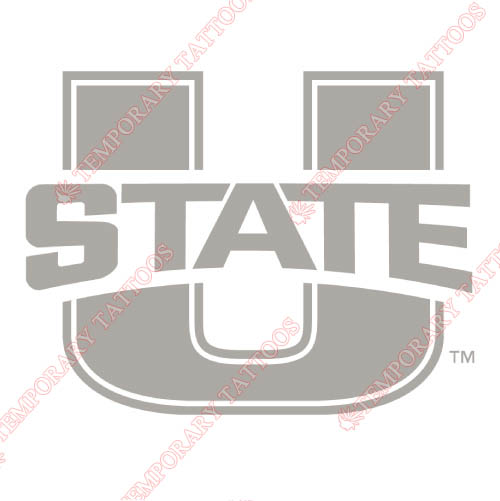 Utah State Aggies Customize Temporary Tattoos Stickers NO.6735
