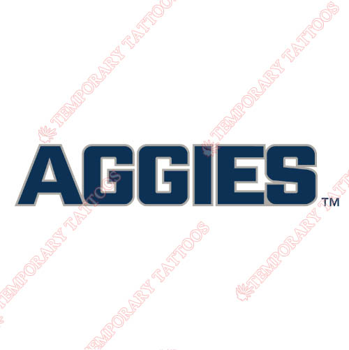 Utah State Aggies Customize Temporary Tattoos Stickers NO.6742