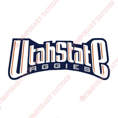 Utah State Aggies Customize Temporary Tattoos Stickers NO.6744