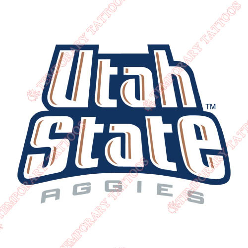 Utah State Aggies Customize Temporary Tattoos Stickers NO.6745