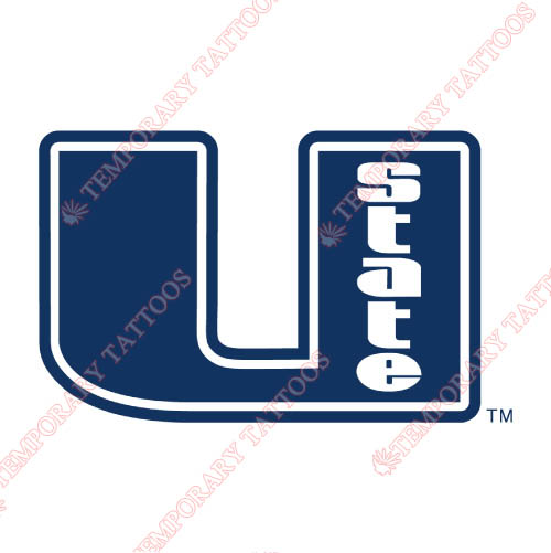 Utah State Aggies Customize Temporary Tattoos Stickers NO.6748