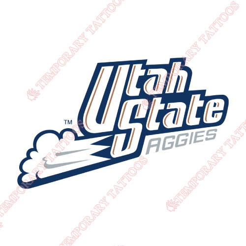 Utah State Aggies Customize Temporary Tattoos Stickers NO.6749