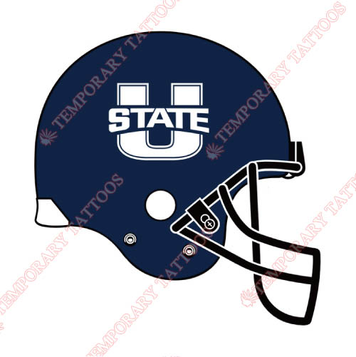 Utah State Aggies Customize Temporary Tattoos Stickers NO.6750