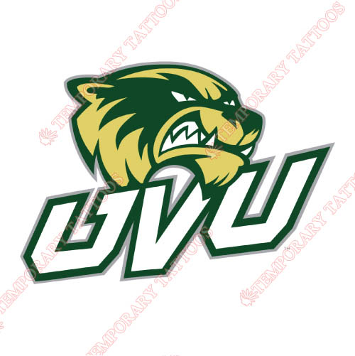 Utah Valley Wolverines Customize Temporary Tattoos Stickers NO.6755