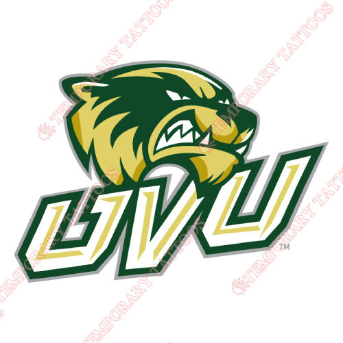 Utah Valley Wolverines Customize Temporary Tattoos Stickers NO.6757