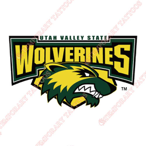 Utah Valley Wolverines Customize Temporary Tattoos Stickers NO.6762