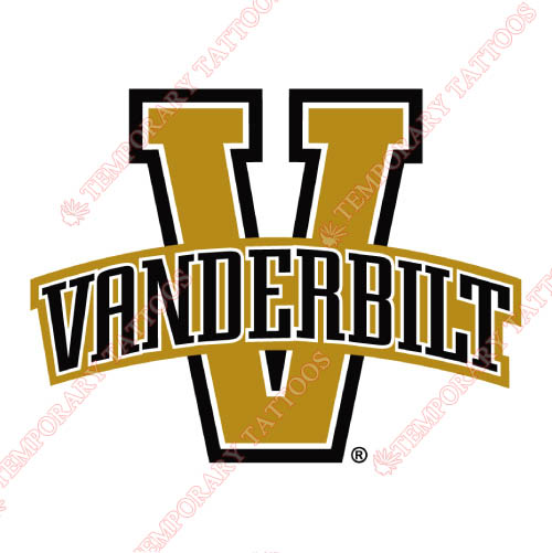 Vanderbilt Commodores Customize Temporary Tattoos Stickers NO.6791