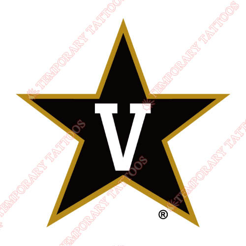 Vanderbilt Commodores Customize Temporary Tattoos Stickers NO.6793