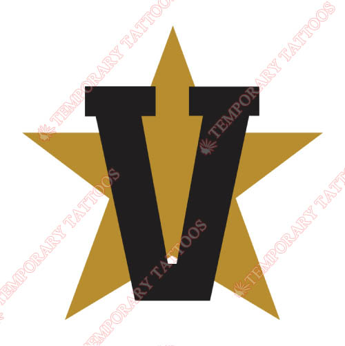 Vanderbilt Commodores Customize Temporary Tattoos Stickers NO.6795