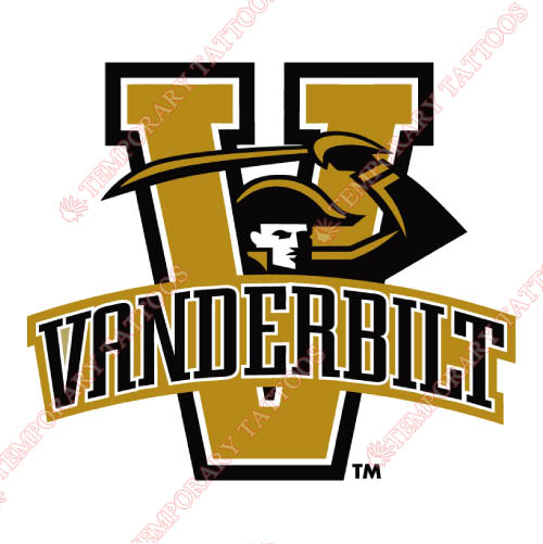 Vanderbilt Commodores Customize Temporary Tattoos Stickers NO.6796