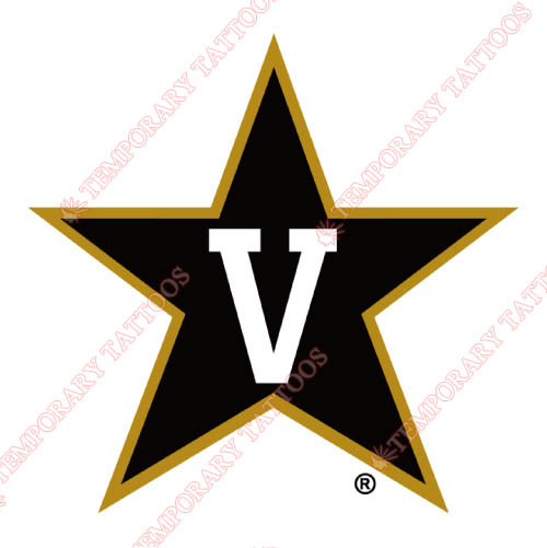 Vanderbilt Commodores Customize Temporary Tattoos Stickers NO.6797
