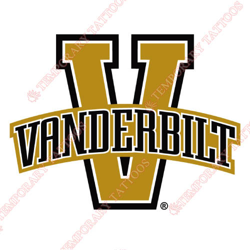 Vanderbilt Commodores Customize Temporary Tattoos Stickers NO.6800