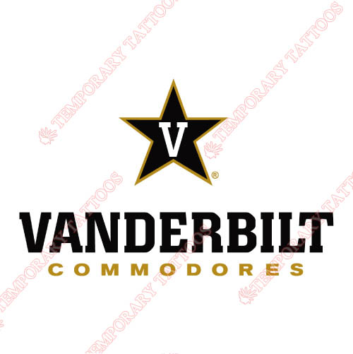 Vanderbilt Commodores Customize Temporary Tattoos Stickers NO.6801