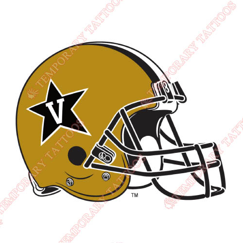 Vanderbilt Commodores Customize Temporary Tattoos Stickers NO.6802
