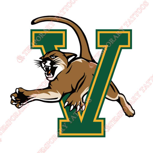 Vermont Catamounts Customize Temporary Tattoos Stickers NO.6804