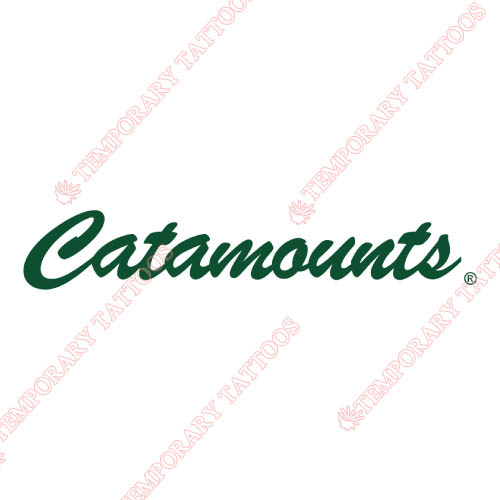 Vermont Catamounts Customize Temporary Tattoos Stickers NO.6807