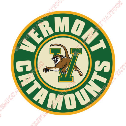 Vermont Catamounts Customize Temporary Tattoos Stickers NO.6809