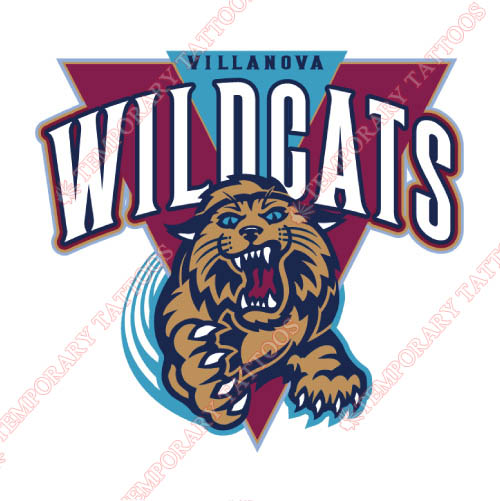 Villanova Wildcats Customize Temporary Tattoos Stickers NO.6813