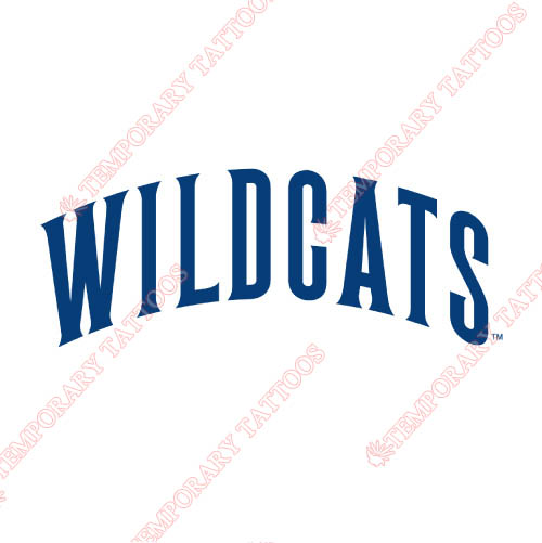 Villanova Wildcats Customize Temporary Tattoos Stickers NO.6816