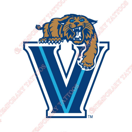Villanova Wildcats Customize Temporary Tattoos Stickers NO.6818