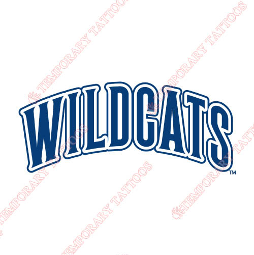 Villanova Wildcats Customize Temporary Tattoos Stickers NO.6819