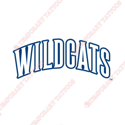 Villanova Wildcats Customize Temporary Tattoos Stickers NO.6821