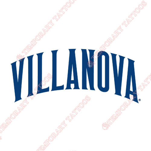 Villanova Wildcats Customize Temporary Tattoos Stickers NO.6823