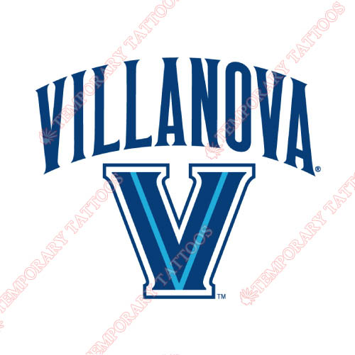 Villanova Wildcats Customize Temporary Tattoos Stickers NO.6824