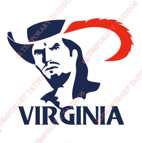 Virginia Cavaliers Customize Temporary Tattoos Stickers NO.6833